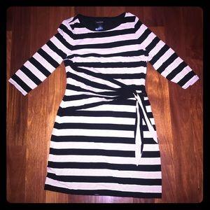 B&W striped dress size: 14 BHWM elegant midi